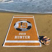 Soccer Premium Beach Towel - Personalized Team