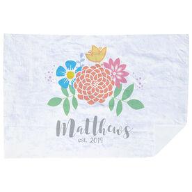 Personalized Premium Blanket - Family Flowers