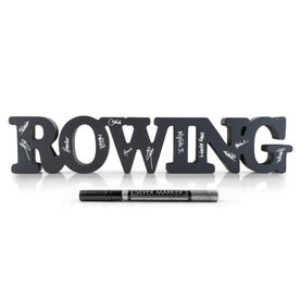 Rowing Ready For Team Autograph Wood Words