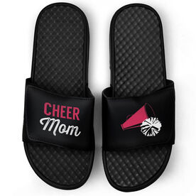 Cheerleading Black Slide Sandals - Cheer Mom