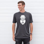 Hockey Short Sleeve T-Shirt - Ho Ho Santa Face