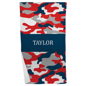 Personalized Beach Towel - Camo Pattern