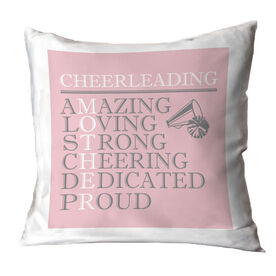 Cheerleading Throw Pillow - Mother Words
