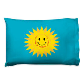 Softball Pillowcase - Sunshine