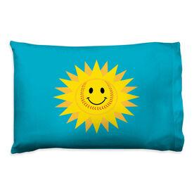 Softball Pillowcase - Sunshine