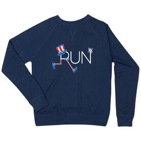 Running Raglan Crew Neck Sweatshirt - Let's Run for America