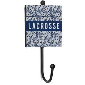 Guys Lacrosse Medal Hook - Lacrosse Pattern