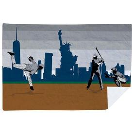 Baseball Premium Blanket - Go for the Home Run NYC
