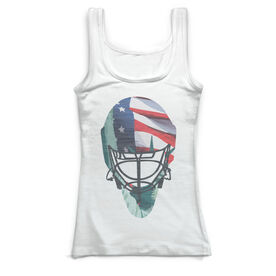Hockey Vintage Fitted Tank Top - Lady Liberty