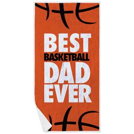 Basketball Premium Beach Towel - Best Dad Ever