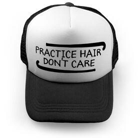 Field Hockey Trucker Hat Practice Hair Don't Care