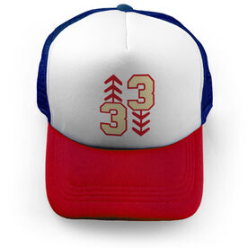 Baseball Trucker Hat - Three Up Three Down