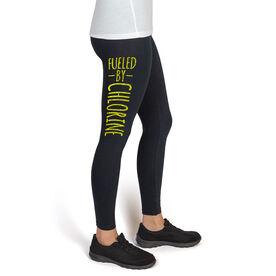 Swim High Print Leggings Fueled By Chlorine