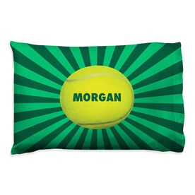 Tennis Pillowcase - Personalized Starburst Ball