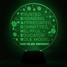 Acrylic LED Lamp - Teacher Words