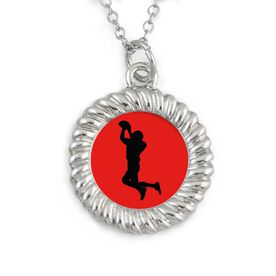 Braided Circle Necklace Custom Team Colors Football Pass