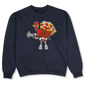 Guys Lacrosse Crew Neck Sweatshirt - Top Cheddar Turkey Tom