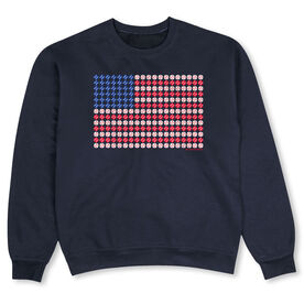 Baseball Crew Neck Sweatshirt - Patriotic Baseball