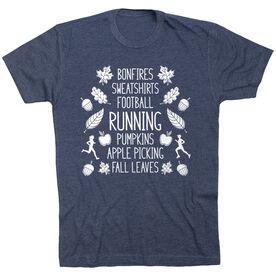 Running Short Sleeve T- Shirt - Fall Running