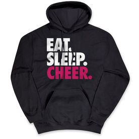 Cheerleading Hooded Sweatshirt - Eat Sleep Cheer