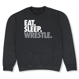 Wrestling Crew Neck Sweatshirt - Eat Sleep Wrestle (Stack)