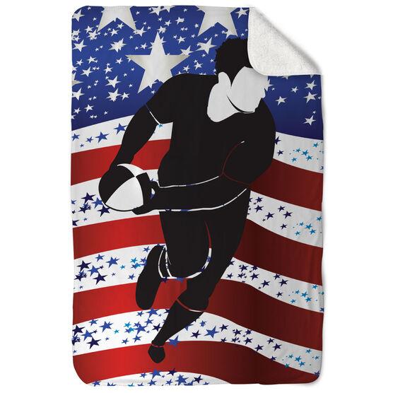 Rugby Sherpa Fleece Blanket - USA We Play