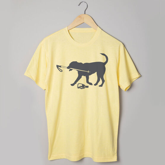 Skiing Short Sleeve T-Shirt Sven The Ski Dog