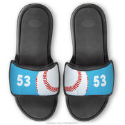 Baseball Repwell® Sandal Straps - Ball and Number Reflected