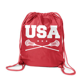 Guys Lacrosse Sport Pack Cinch Sack - USA Lacrosse