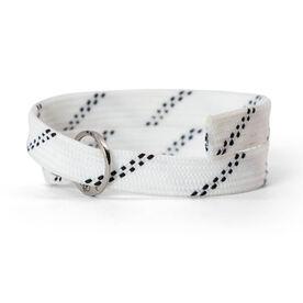 Lacrosse Shooting String Bracelet White Adjustable Shooter Bracelet