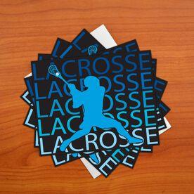 Boys Lacrosse Fade Note Card - Set of 6