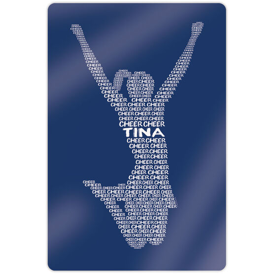 """Cheerleading 18"""" X 12"""" Aluminum Room Sign - Personalized Cheer Words"""
