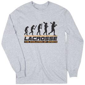 Guys Lacrosse Long Sleeve T-Shirt - Evolution