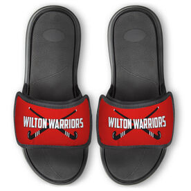 Field Hockey Repwell™ Slide Sandals - Personalized Crossed Sticks
