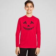 Soccer Long Sleeve Performance Tee - Soccer Pumpkin Face
