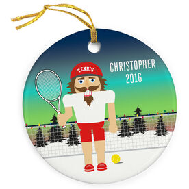 Tennis Porcelain Ornament Nutcracker