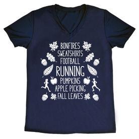 Women's Short Sleeve Tech Tee - Fall Running