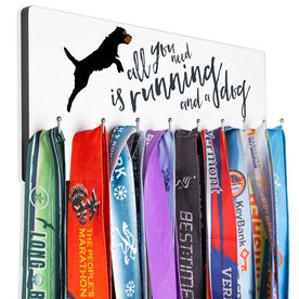 Running Hooked on Medals Hanger - All You Need Is Running And A Dog