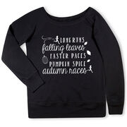 Running Fleece Wide Neck Sweatshirt - Awesome Autumn