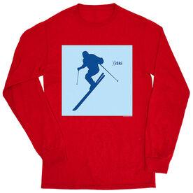 Skiing Tshirt Long Sleeve - iSki