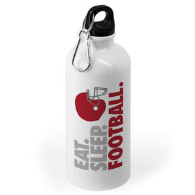 Football 20 oz. Stainless Steel Water Bottle - Eat. Sleep. Football.