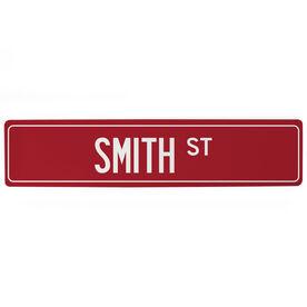 "Personalized Aluminum Room Sign - Custom Name Street (4""x18"")"