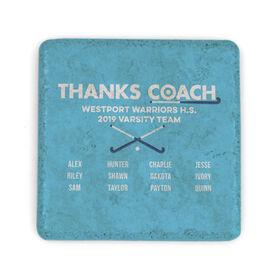 Field Hockey Stone Coaster - Thanks Coach Roster