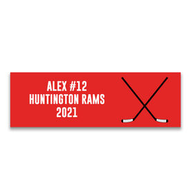 """Hockey 12.5"""" X 4"""" Removable Wall Tile - Personalized Team"""