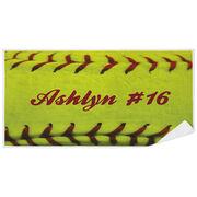 Softball Premium Beach Towel - Personalized Stitches