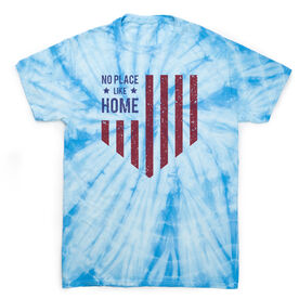 Softball Short Sleeve T-Shirt - No Place Like Home Tie Dye