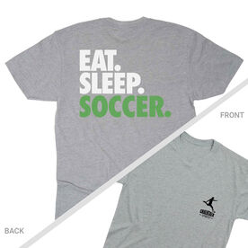 Soccer Short Sleeve T-Shirt - Eat. Sleep. Soccer (Logo Collection)