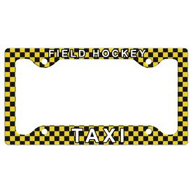 Field Hockey Taxi License Plate Holder