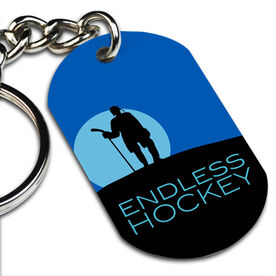 Endless Hockey Printed Dog Tag Keychain