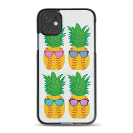 Softball iPhone® Case - Pineapples with Sunglasses